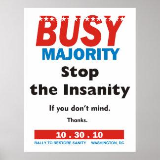 Poster ocupado da maioria