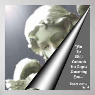 Poster ondulado do brilho do guardião visão angéli