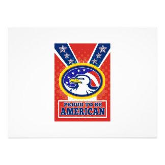 Poster orgulhoso americano do Dia da Independência Convite
