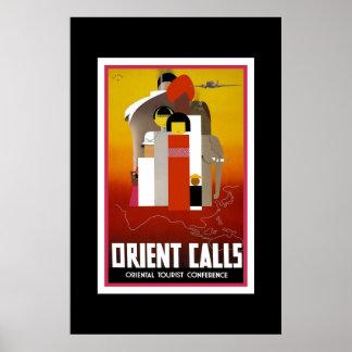Poster Oriente das viagens vintage