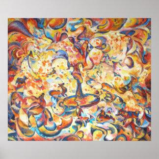 poster original da arte abstracta da imaginação