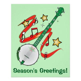 Póster Os cumprimentos da estação do banjo do feriado