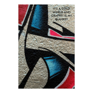 Póster os grafites citam em uma foto de uma pintura