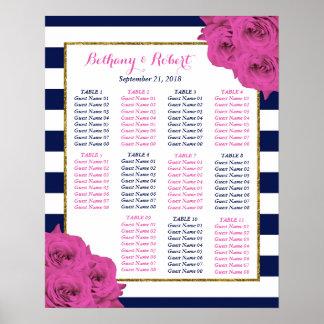 Póster Os rosas Luxe modernos chiques do rosa da coleção