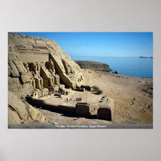 Póster Os templos de Abu Simbel, deserto de Egipto
