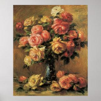 Poster ou impressão das belas artes dos rosas de R