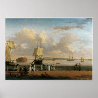 Poster ou impressão marítimo das belas artes