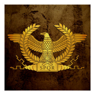 Poster Ouro resistido romano Eagle no bronze
