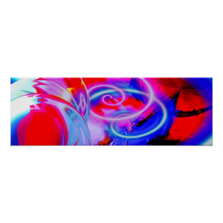 Poster panorâmico da arte abstracta moderna