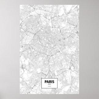 Poster Paris, France (preto no branco)
