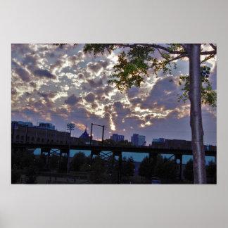 Poster Parque Philadelphfia de Penn do por do sol