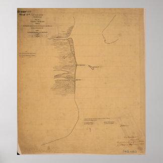 Poster Pass Cavallo Texas Civil War Map