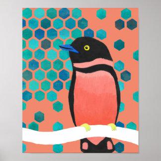 Poster Pássaro da explosão de Sherbert