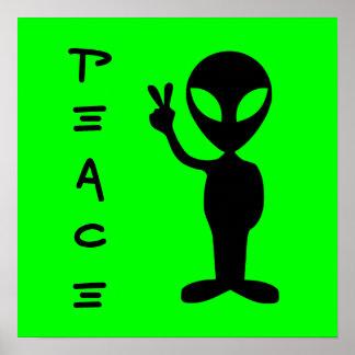 Poster pequeno do homem verde