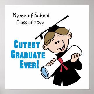 Poster personalizado da graduação dos meninos