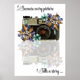 Poster pintado óleo da fotografia, cada imagem pôster