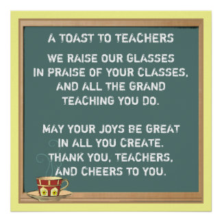 Póster Poema da apreciação do professor
