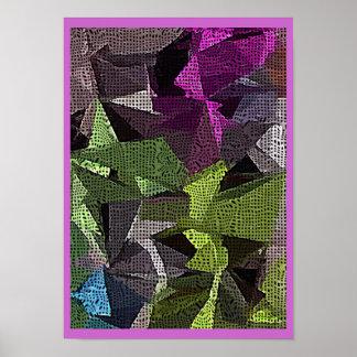 Poster poligonal do design do abstrato do arrepio