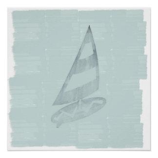 Póster Poster náutico do mar do surfista legal Cosy do