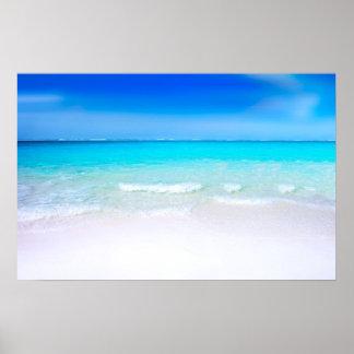 Póster Praia tropical com um mar de turquesa