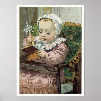 Poster precioso doce do impressão da arte do bebê