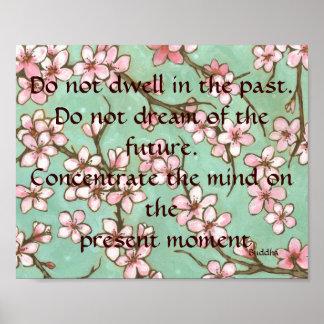 Poster presente e futuro do passado de Buddha