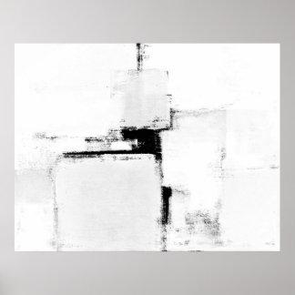 Poster preto e branco da arte abstracta da