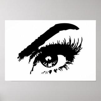 Poster preto e branco do olho