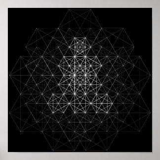 Poster preto e branco do teste padrão do abstrato pôster