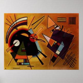 Poster preto e violeta de Kandinsky Pôster
