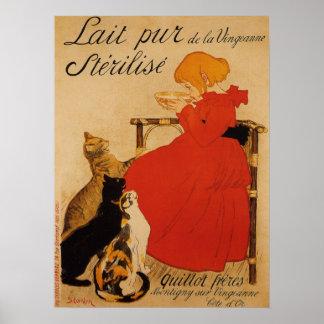 Poster puro francês do leite