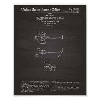 Poster Quadro da arte da patente do helicóptero 1960