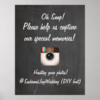 Poster Quadro de PixDezines DIY/sinal de Instagram
