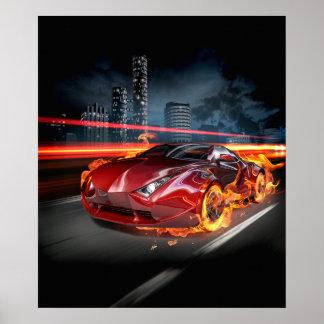 Poster quente da fantasia do carro