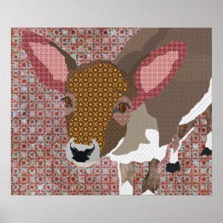 Poster querido da arte dos cervos do vintage