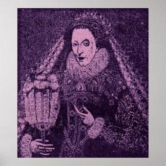 Póster Rainha Elizabeth mim na lavanda