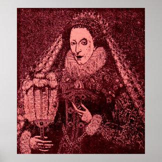 Póster Rainha Elizabeth mim no rosa