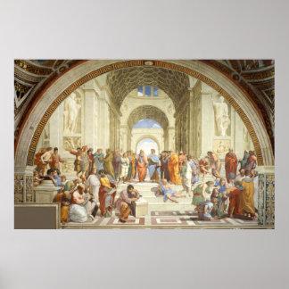 Póster Raphael - A escola de Atenas 1512