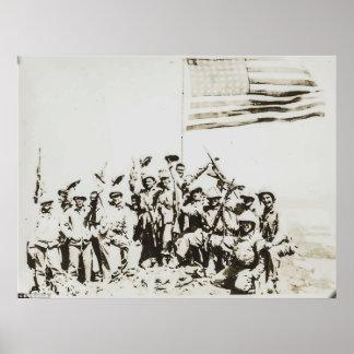 poster raro da foto de Iwo Jima