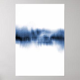 Poster Reflexão azul