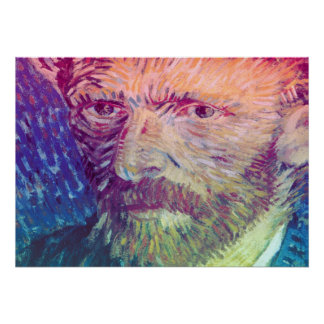 Poster Retrato de auto de Van Gogh