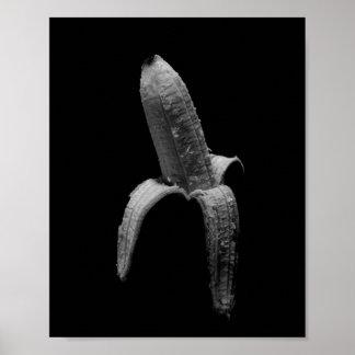 Poster Retrato preto e branco da banana
