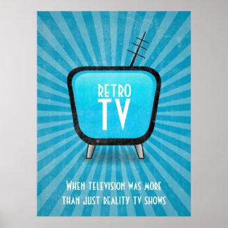 Poster retro da televisão da tevê do vintage