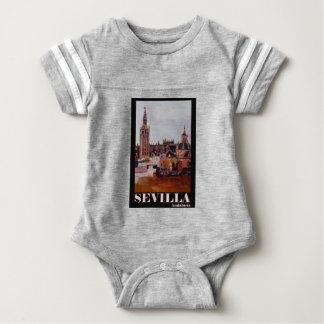 Poster retro Sevilha Giralda Andalucia Camiseta