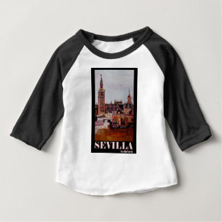 Poster retro Sevilha Giralda Andalucia Camiseta Para Bebê