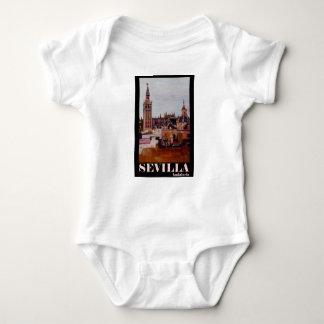 Poster retro Sevilha Giralda Andalucia T-shirts