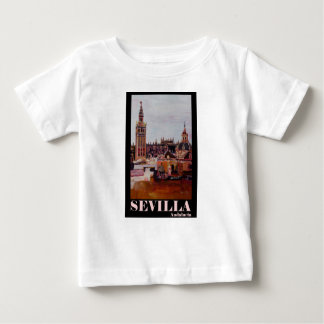 Poster retro Sevilha Giralda Andalucia Tshirt