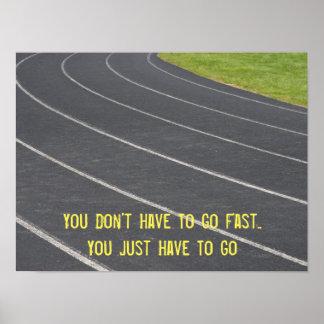 Poster Running inspirador dos esportes Pôster