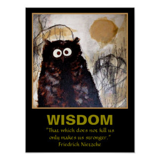 Póster Sabedoria da arte da coruja