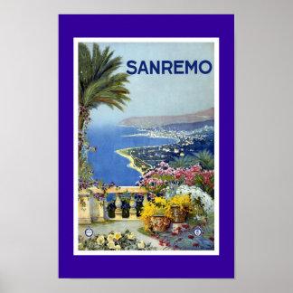 Poster Sanreno das viagens vintage